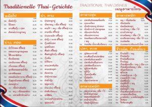 Menü Seite 15: Traditionelle Thai-Gerichte